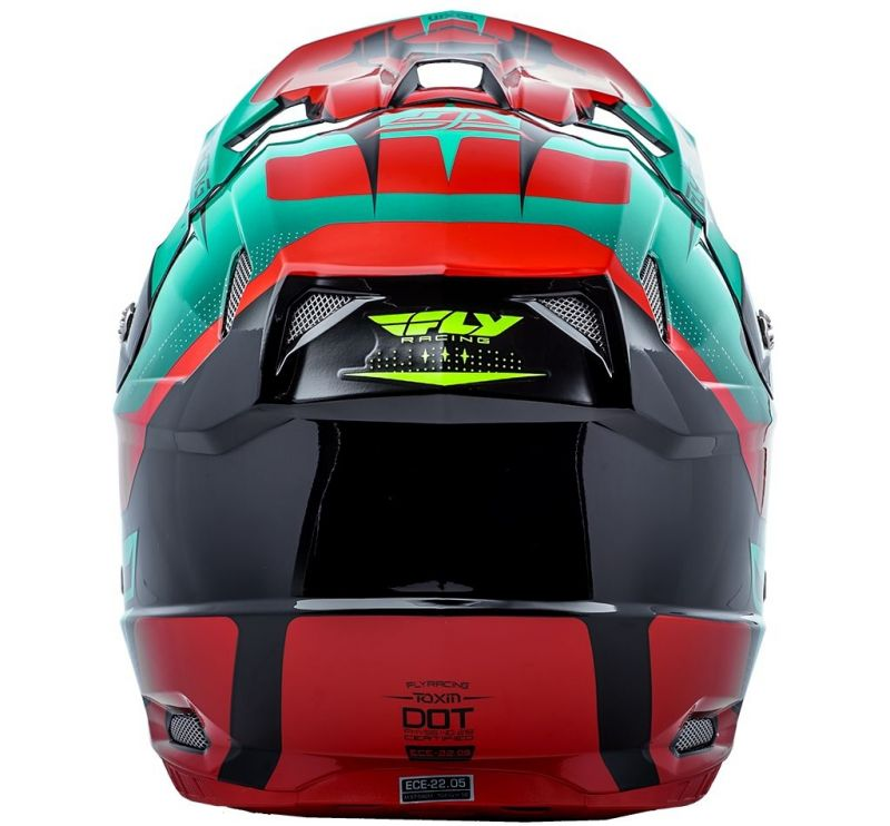 Casque cross Fly Racing Toxin rouge/bleu/noir - 3