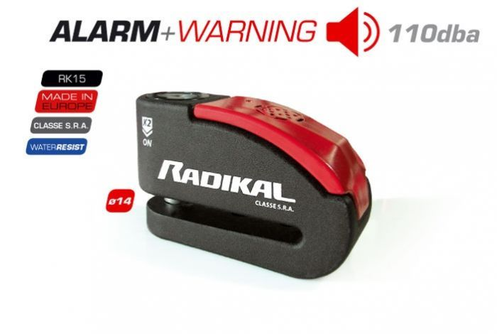 Bloque Disque + Alarme Radikal RK15 SRA