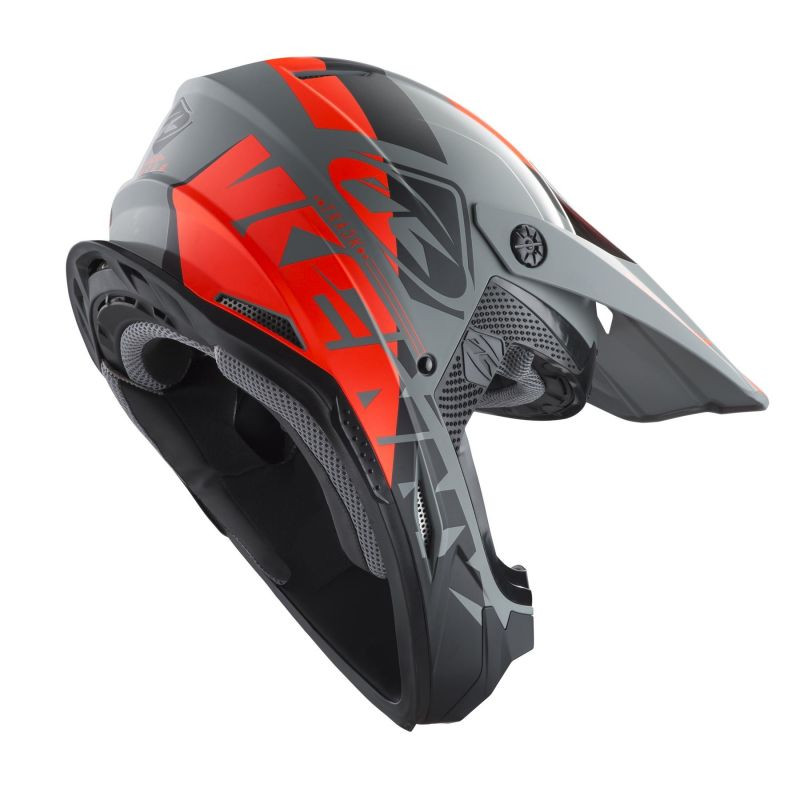 Casque cross Kenny Track gris - 1