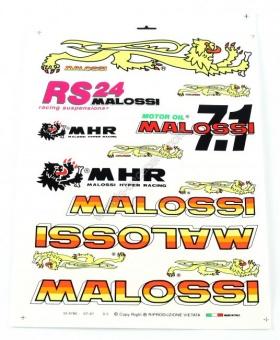 Planche d'autocollants malossi / mhr