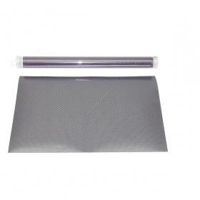 Feuille pvc fine 30x45cm look carbone