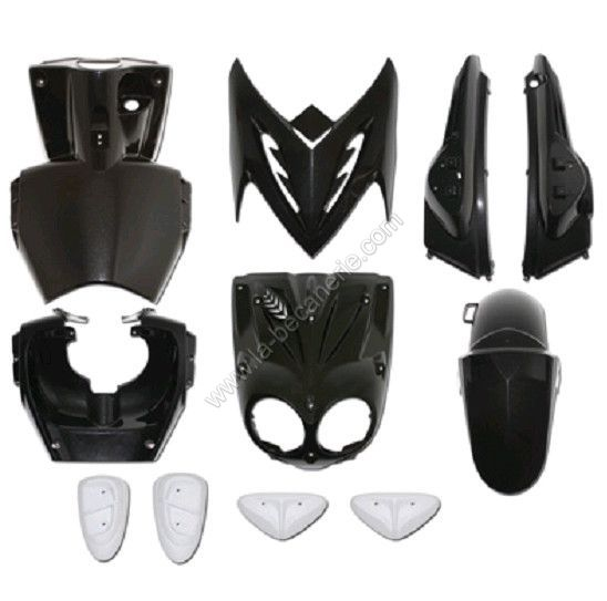 kit carrosserie 11 pi ces noir avec pads noir adaptable stunt slider. Black Bedroom Furniture Sets. Home Design Ideas
