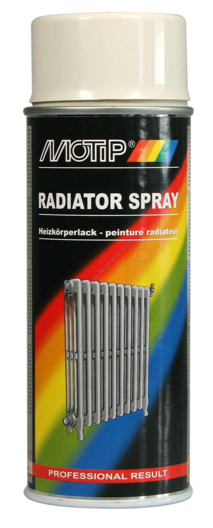 Bombe peinture radiateur blanc cass motip 400 ml m04078 for Bombe de peinture pour radiateur