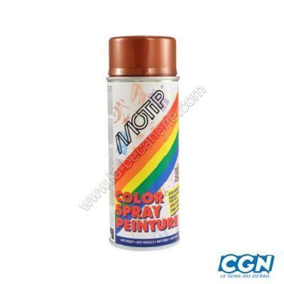 Bombe de peinture cuivre chaudron motip 400ml peinture for Peinture radiateur couleur cuivre
