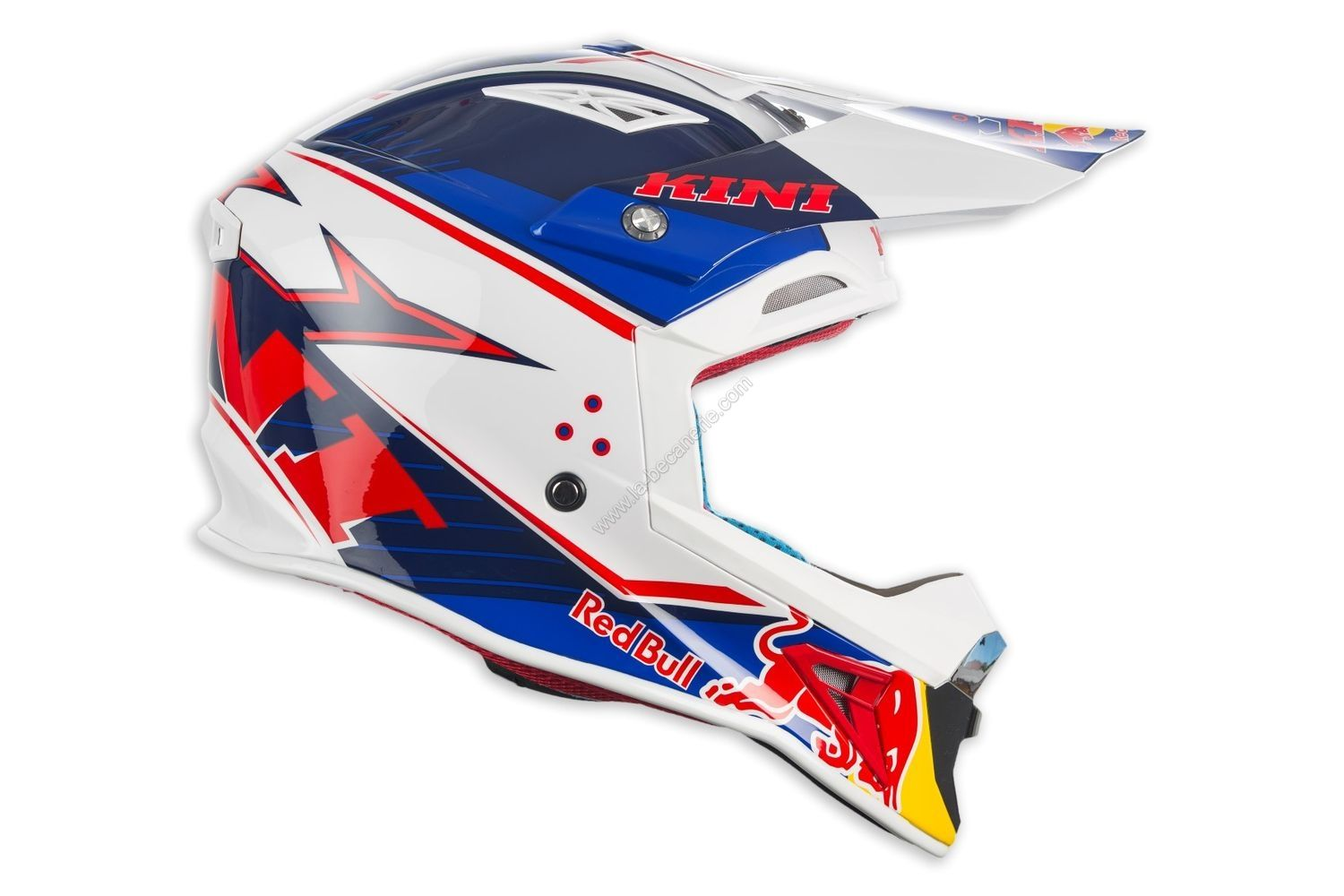 Casque Cross Kini Red Bull Competition Bleu Marineblanc Casques