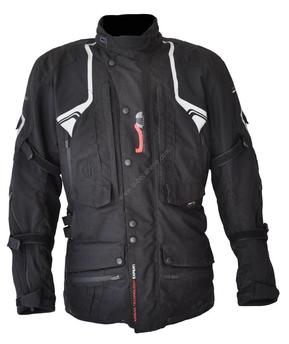 veste airbag helite touring noire quipement route sur la b canerie. Black Bedroom Furniture Sets. Home Design Ideas