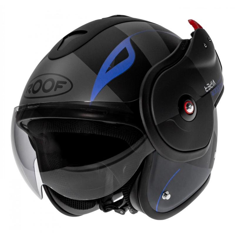 Casque modulable Roof RO9 Boxxer Viper noir/bleu mat - 1