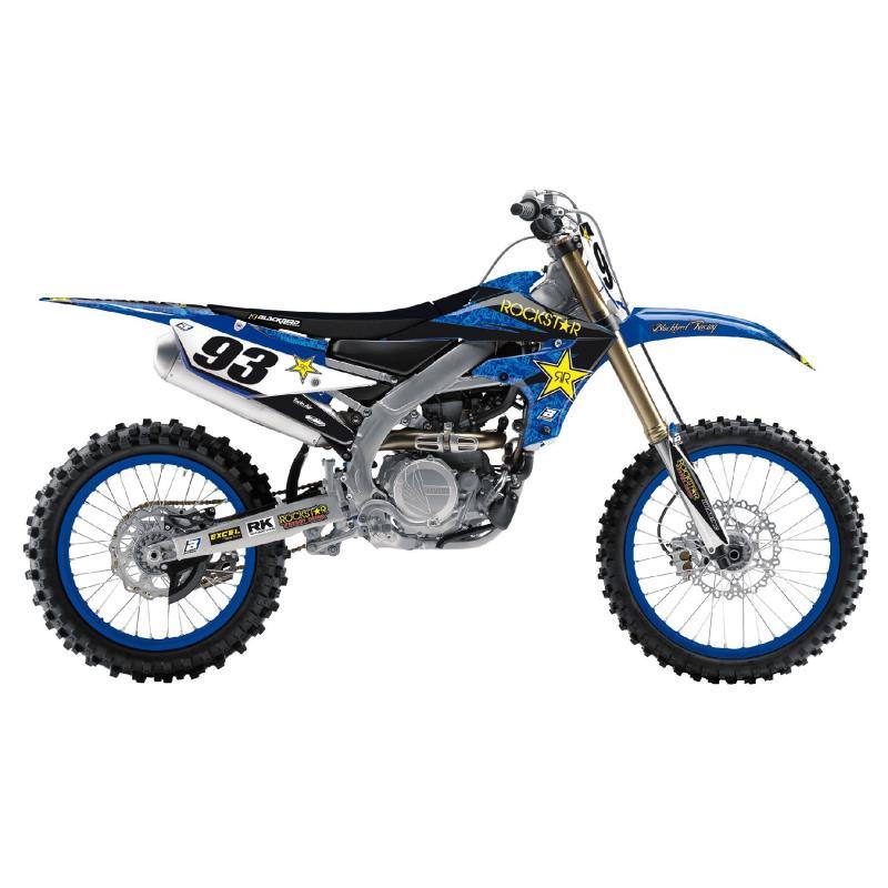 Kit déco + housse de selle Blackbird Rockstar Energy Yamaha YZ 450F 18-20 bleu