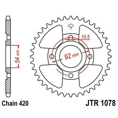Couronne JT Sprockets Acier pas 420 47 dents - Pour Yamaha TZR 50 97-06