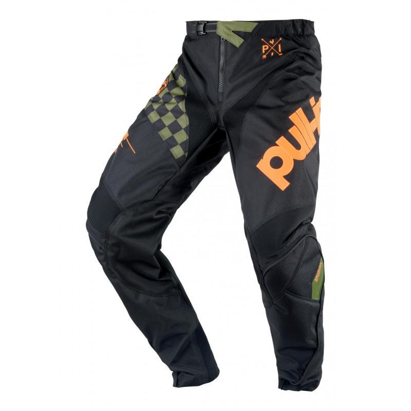 Pantalon cross enfant Pull-in Challenger Master kaki/orange