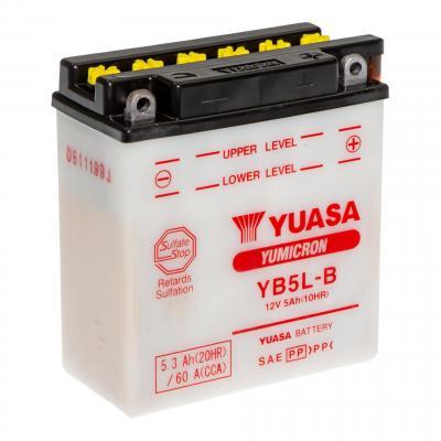 Batterie Yuasa YB5L-B 12V 5Ah avec acide