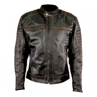 Blouson cuir Archive Classic Brun
