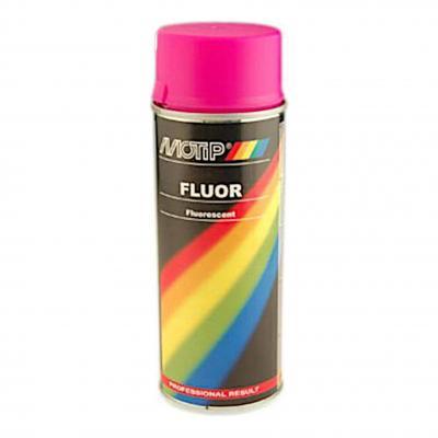 Bombe peinture fluorescente rose 400 ml Motip