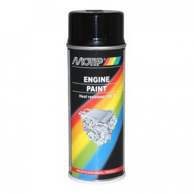 Bombe peinture moteur noir brillant Motip 400 ml M04092