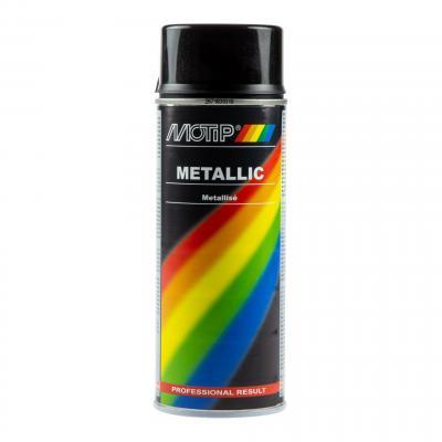 Bombe peinture noir métallisée Motip 400ml