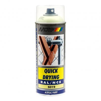 Bombe peinture Vert pastel brillant acrylique RAL 6019 Motip 400 ml M07129