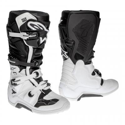 Bottes cross Alpinestars Tech 7 blanc/noir