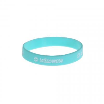 Bracelet silicone La Bécanerie bleu/blanc