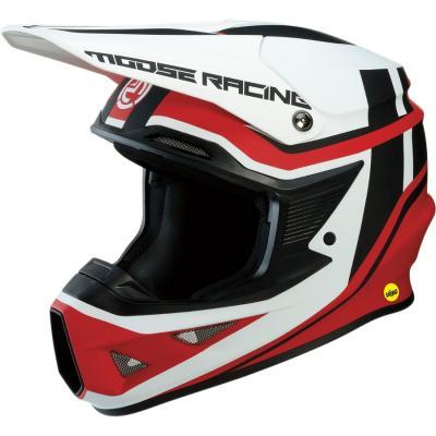 Casque cross Moose Racing FI Session Mips noir/rouge
