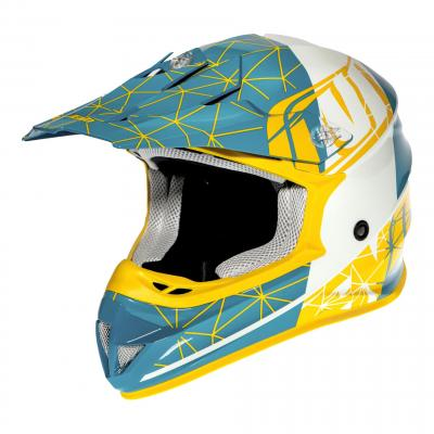 Casque cross Noend ORIGAMI SC15 Acid bleu/jaune