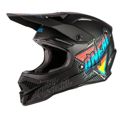 Casque cross O'Neal 3SRS Speedmetal noir/multicolore