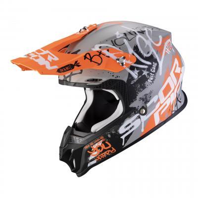 Casque cross Scorpion VX-16 Air Oration gris/orange mat