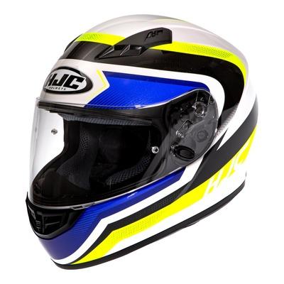 Casque intégral HJC CS-15 Rako MC24 blanc/bleu/jaune fluo