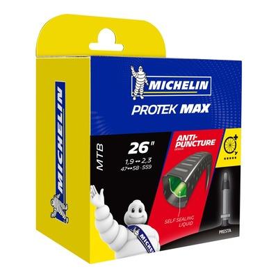 Chambre à air vélo Michelin Protek Max 26 x 1,85/2,30 Presta 40mm