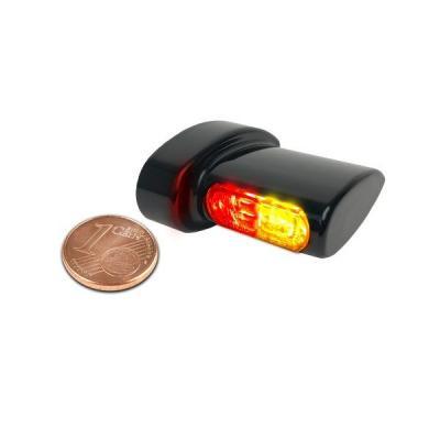 Clignotants de garde-boue arrière Heinz Bikes Micro LED noir avec feu arrière et feu stop intégrés