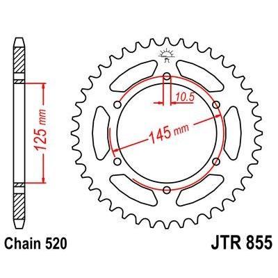 Couronne JT Sprockets Acier pas 520 48 dents - Pour Yamaha XJ 600 N 95-03