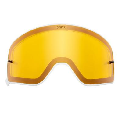 Écran O'Neal pour masque B 50 jaune avec cadre blanc