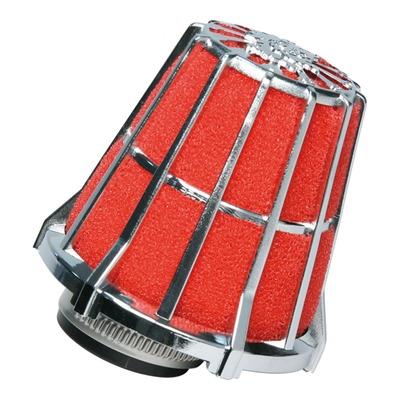 Filtre à air Malossi E5 droit décentré pour PHBG Ø 15-21 mousse rouge et chrome