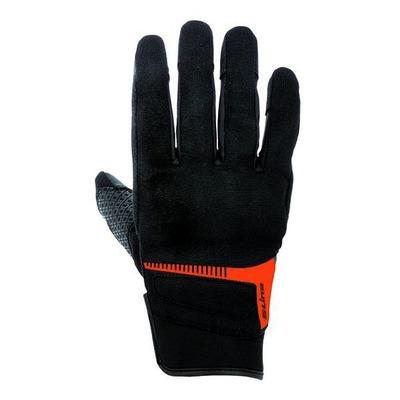 Gants textile S-Line pouce index tactiles noir/orange