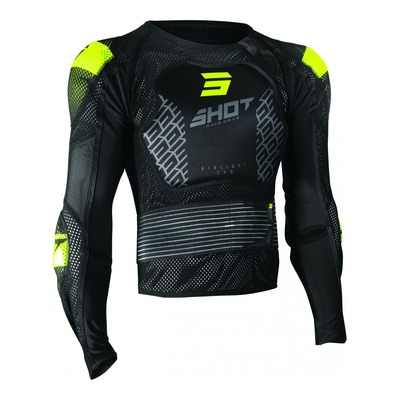 Gilet de protection Shot Airlight 2.0 noir/jaune (Homologation FFM)