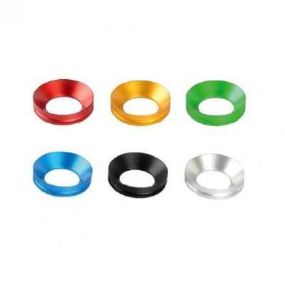 Inserts de tampons de protection Lightech aluminium rouge