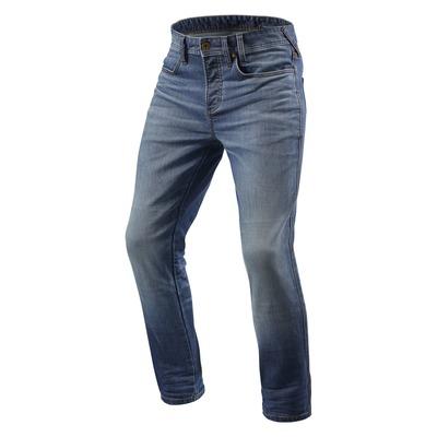 Jeans moto Rev'it Piston longueur 34 (standard) bleu moyen délavé