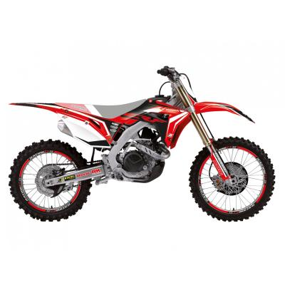 Kit déco Blackbird Racing Dream 4 Honda CRF 250R 18-19 noir/rouge