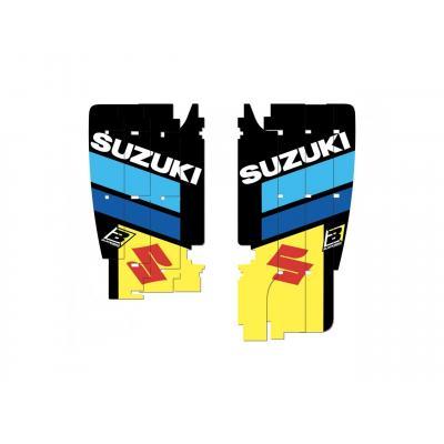 Kit déco de cache radiateur Blackbird Replica Racing Team 2019 Suzuki 450 RM-Z 08-17 bleu/jaune