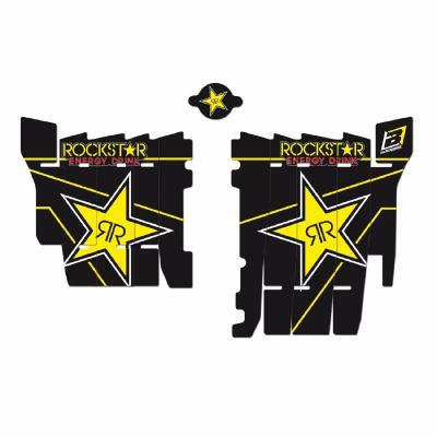 Kit déco de radiateur Blackbird Racing Rockstar Energy Honda CRF 450RX 17-19 noir/jaune