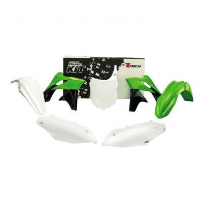 Kit plastique RTech blanc, vert et noir pour Kawasaki KX-F 450 13-15