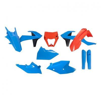 Kit plastique RTech KTM 250 EXC-F 17-19 bleu clair/orange