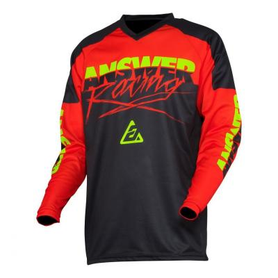 Maillot cross Answer Syncron Pro Glow rouge/black/hyper acid