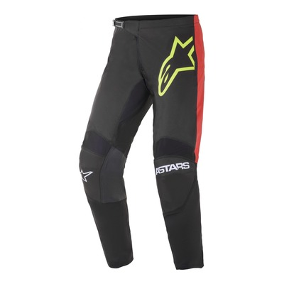 Pantalon cross Alpinestars Fluid Tripple noir/jaune fluo/bright rouge
