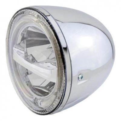 Phare LED Highsider Circle fixations latérales chromé