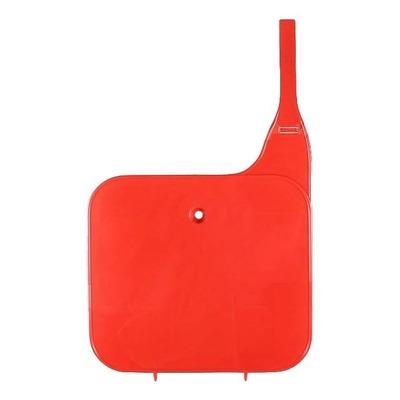 Plaque numéro frontale UFO Honda CR 125R 83-89 rouge (rouge UFO)