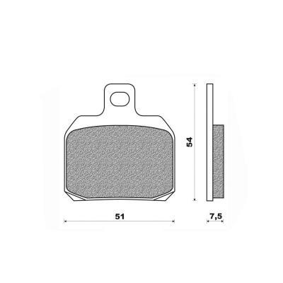 Plaquettes de frein Newfren Standard organique .FD.0256 BS