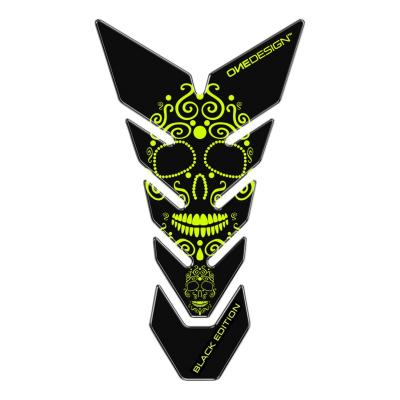 Protège réservoir Onedesign Black Edition Skull noir/jaune