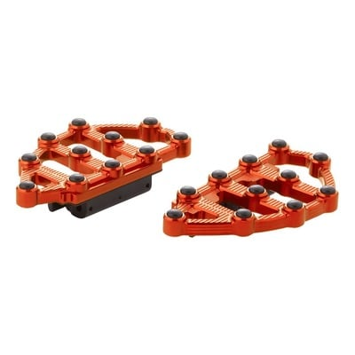 Repose pieds plateau mini passager Arlen Ness MX anodisé orange