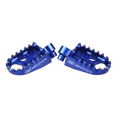 Reposes pieds Scar Evolution bleus pour Yamaha YZ 250 F 01-16