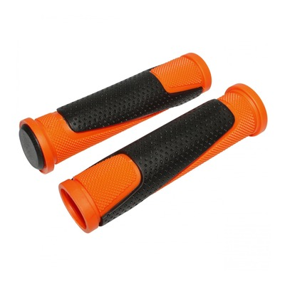 Revêtements de poignées vélo Newton Bi-Matière orange/noir